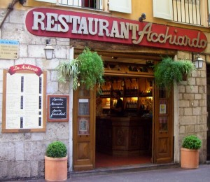 Restaurant Acchiardo vieux-nice