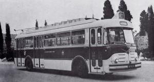 Trolley Vétra-Berliet ELR en 1959 aux Arènes de Cimiez