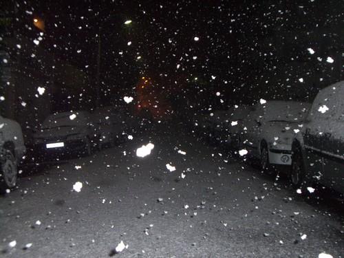 Il a neigé à gros flocons sur Nice dans la nuit de vendredi à samedi