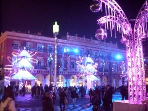 La Place Masséna aux couleurs de Noël