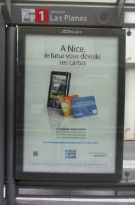 Affiche dans une station de Tram'