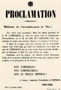 Proclamation Pietri 1860