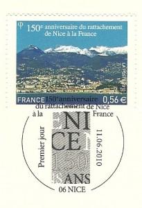 timbre du 150ème anniversaire du rattachement