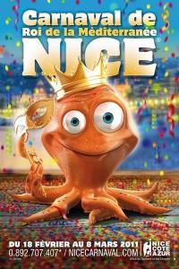 Affiche du carnaval de Nice 2011