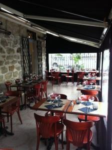 "Terrasse du restaurant ""Le 111"""