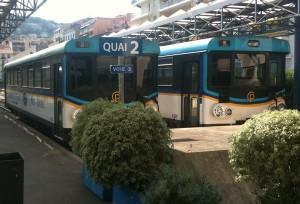 Rames en Gare des Chemins de Fer de la Provence de Nice