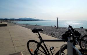 Vélo+plage...quel pied !